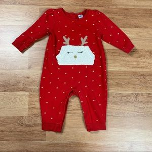 Old Navy Reindeer Polka Dot Coverall